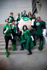 Yes, there's a Green Lantern Corps which are a squad of Green Lanterns. Don't ask me why that is.