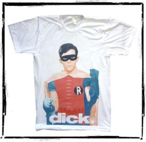 "Yes, Dick Grayson is Robin. But that doesn't excuse the shirt designers for leaving the ""D"" uncapitalized."