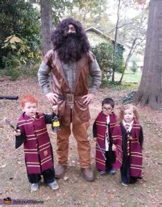Well, I'm sure Hagrid's a giant to these kids. But all and all, this so adorable.