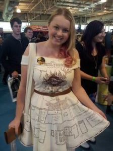 Wonder what it took to make that dress. Still, it's pretty clever.
