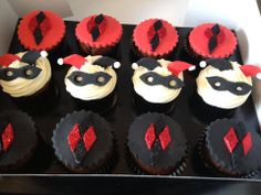 These are sure to go well with any Harley Quinn cake. Hey, they might go fine with any Joker cake, too.