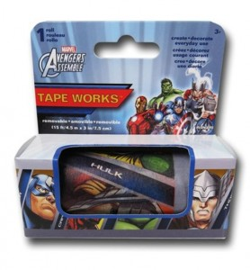 Yes, this is Avengers tape. Why would anyone want to use this, I have no idea.
