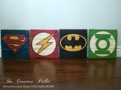 These consist of Superman, the Flash, Batman, and the Green Lantern. And they all seem to be intricately painted in their own way.
