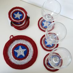 These may not protect you against bad guys. But they'll protect your table from damage when you need to set a drink.