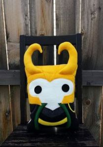 This one even has the famous Loki horns. So cute though. Still, my dad can't believe that the guy who plays Loki has lighter hair in real life.