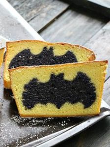 This is just bread that has a Batman symbol inside. And yes, it looks quite awesome.