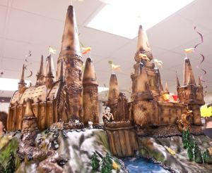 Yes, this is another Hogwarts gingerbread castle. But this is is quite a wonder to behold, too.