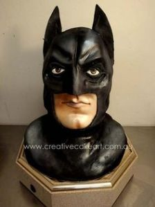 Well, it's a cake of Batman's head. A little disturbing but nonetheless unique.