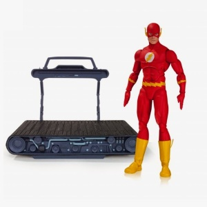 Uh, does the Flash really need a treadmill? Seriously, he moves about as fast as the speed of light. What kind of treadmill can do that?