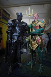 Guess we should call Batman Sir Bruce of Gotham who's a literal dark knight. Nevertheless, love Aquaman's trident.