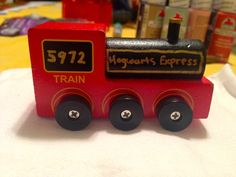 Yes, this is a wooden rendition of the Hogwarts Express. And yes, it's quite delightful if you ask me.