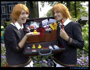 These two guys later ended up owning a joke shop thanks to Harry's Triwizard prize money. However, the two wouldn't be together for long due to what happened to Fred.