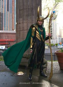 Now this is an amazing Loki cosplay. Love his helmet and staff. Yes, this is one of the reasons fans love him.