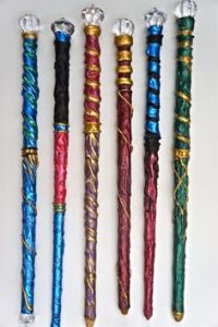 These are DIY wands which probably are less expensive than ones sold by major companies. They're also more colorful.