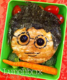 Yes, it's a Harry Potter lunch. Think it's a pita bread sandwich with Harry's face on it. But I'm not sure.