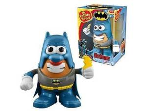 "From Daily Toast: ""Look, DC: you can't just put a cape and cowl on anything that people buy and suddenly declare it's worth almost seventy bucks. And is it just me, or does the Batman getup make Mr. Potato Head's smile look somewhat sinister?"""