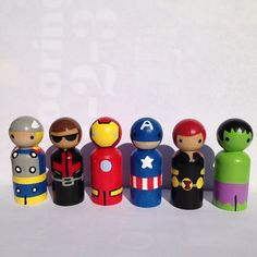 Yes, it's another set of Avengers peg dolls. But this set has Black Widow and Hawkeye.