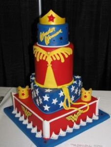 This is probably the ultimate Wonder Woman cake. And yes, I'm sure it's expensive and professionally made.