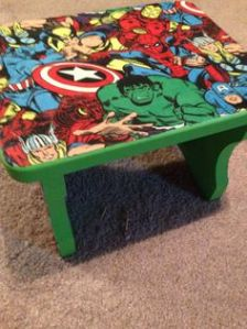 Then again, I'm not sure it's even a table. But it has the Avengers on it so it goes on this post.
