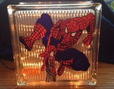Seems like they have a lot of glass block art for some reason. Not sure if this Spider Man was a decal.