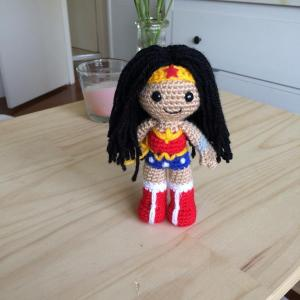 And this has to be the most adorable Wonder Woman I've seen. Still, so cute.