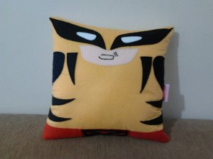 This pillow may be quite cuddly. However, understand that Wolverine is anything but.