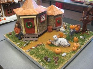 Seems like this one is from Prisoner of Azkaban. And there's Buckbeak in the pumpkin patch. Let's hope he doesn't get killed.
