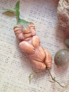 Okay, mandrake babies are incredibly creepy. The costumes are cute for babies. But this, not so much.