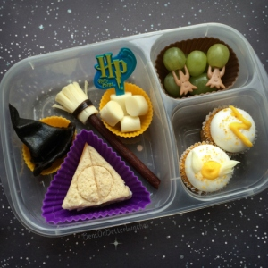 Seems like the main course in this is a Deathly Hallows sandwich. Still, I think it's clever.