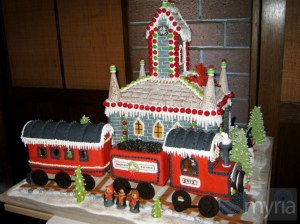 You mean they have a gingerbread Hogwarts Express, too? Man, this is just awesome.