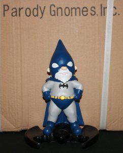 This is the Batman Gnome. And yes, while he is good, he's not exactly nice, especially if it pertains to his enemies.