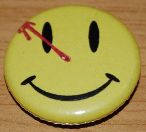 This is a symbol for the Watchmen. I'm not very familiar with the franchise. But I know they had their own movie.