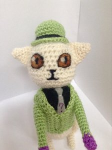 Well, this is a Riddler Cat. Not sure how it gives out riddles though. But this is pretty good.