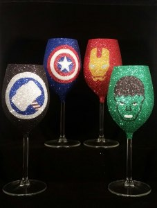 These consist of Thor, Captain America, Iron Man, and Hulk. And are probably used for decorative purposes only.