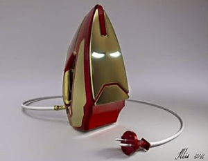 Iron Man iron, get it? May not be great against villains. But it will sure help out with wrinkles.