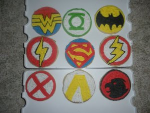 I know I can't identify a few of these. But I think they look quite awesome for any Justice League party.