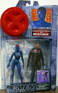 Doesn't seem to make for a convincing Wolverine. Then again, this one probably has Mystique paired with a conventional Wolverine action figure.