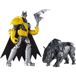 "From Goliath: ""It finally happened. They ran out of things they could make out of bats so they just said ""Hey, let's start using rhinoceroses instead."" That has to be the only logical explanation for this toy that features some bizarre Medieval-looking armor and a robotic rhino that carries an axe embedded in his head. Because when a robotic rhino isn't enough, you need a robotic Axe Rhino."""