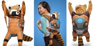 Not sure if having a raccoon on your back is a good idea. Yes, they're cute, but this is kind of ridiculous.