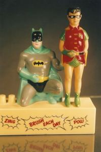 Is it just me or does Batman seem to have his hand on Robin's butt? Also doesn't help that Robin isn't wearing any pants, which makes this even more disturbing.