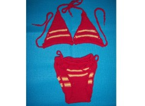 I'm not sure why these yarn bikinis exist. I mean they're not the kind you'd want while swimming. Seriously, why?