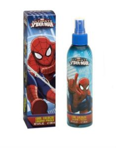 Because there's nothing that smells fresher than a guy being bitten by a radioactive spider. Or a guy who spent some time in a full body spandex suit on a hot day.