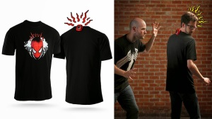 Not sure if I'd want a tingling shirt like this. This kind of gimmick might get pretty old after awhile if you ask me.