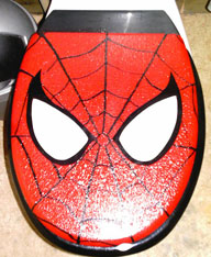 Yes, this is a Spider Man toilet seat. It's ridiculous like anything. But I had to include it on this post.