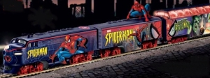 So why does Spider Man need his own train. It's not like he's Spider Hobo on the side. Yet, given Peter Parker's money problems, I wouldn't be surprised.
