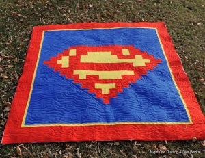 And this one has the Superman symbol emblazoned in the center. But I'm sure it will make a super great addition to anyone's place.