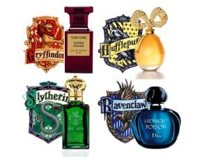 Wait a minute, each Hogwarts house has its own perfume bottle? Seriously, do fans really need stuff like this? I think it's overdoing it.