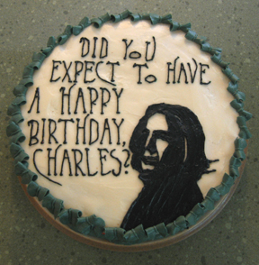 And yes, I read the cake in the late Alan Rickman's voice. I don't know about you, but I find this funny.