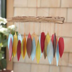 These are shaped like feathers. But they're plastic because feathers don't make much of a sound.