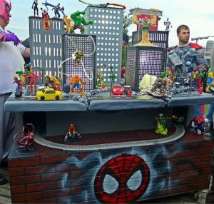 This one is from Cake Boss. It was probably for some spoiled rich kid's birthday party. Considering how big it is and how it's a cake Peter Parker can't afford.